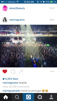 Selfie she took with the Crowd