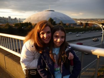 Mom and I infront of Tacoma Dome
