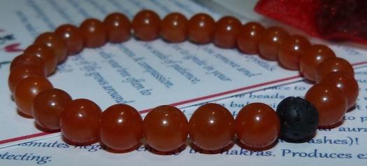 03 - Red Aventurine Diffuser Bracelet (3)