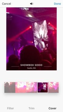 Screenshot of a Live Video