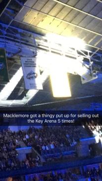 Macklemore's KeyArena Banner